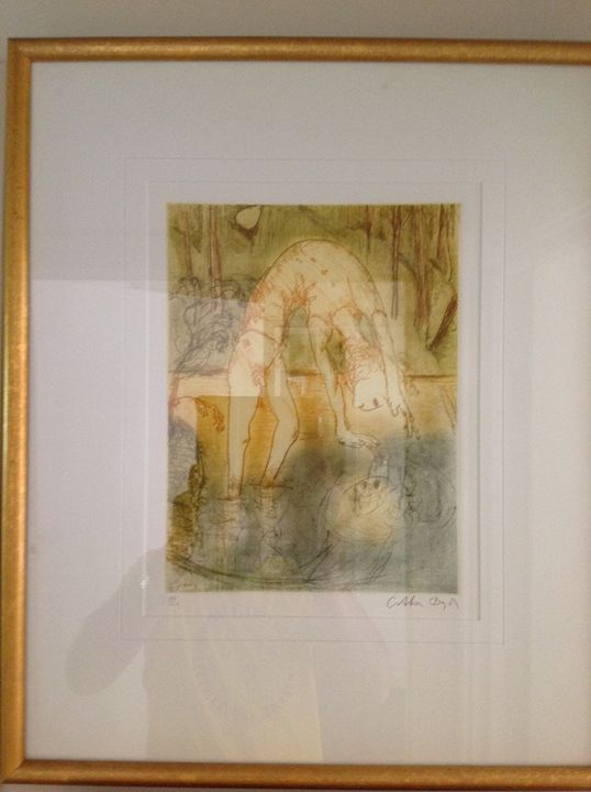 Arthur Boyd Narcissus print - Colins private collection