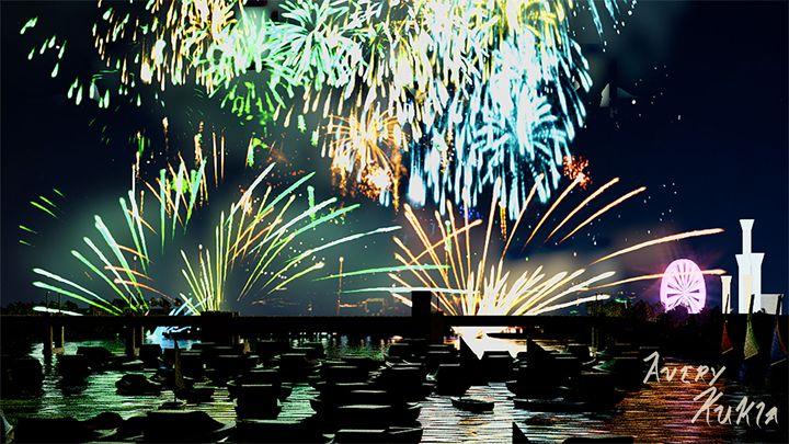Fireworks Display - Landscape - Averusan