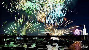 Fireworks Display - Landscape