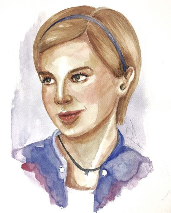 Sam (The Perks of Being Wallflower) - watercolor by Husna