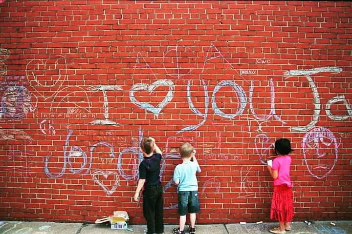 Chalk Graffiti - Doe Out Of Darkness