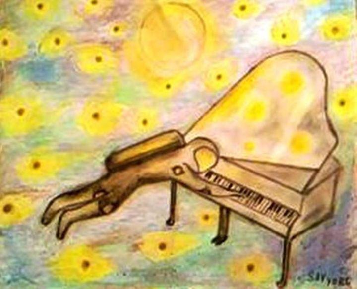 Spaceman play on piano - Sav
