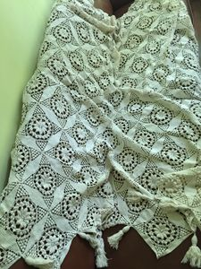 Hand made vintage French bed cover - Fine art