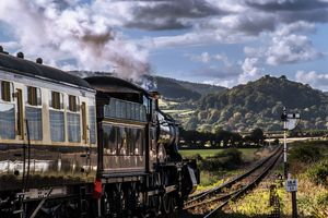 Steam train to Dunster