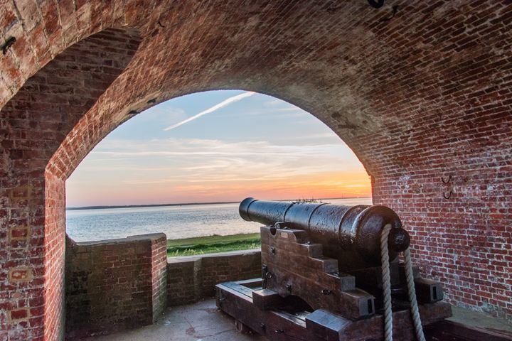 Victorian Canon at dawn - Natural Light Photography