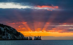 Red starburst sunset