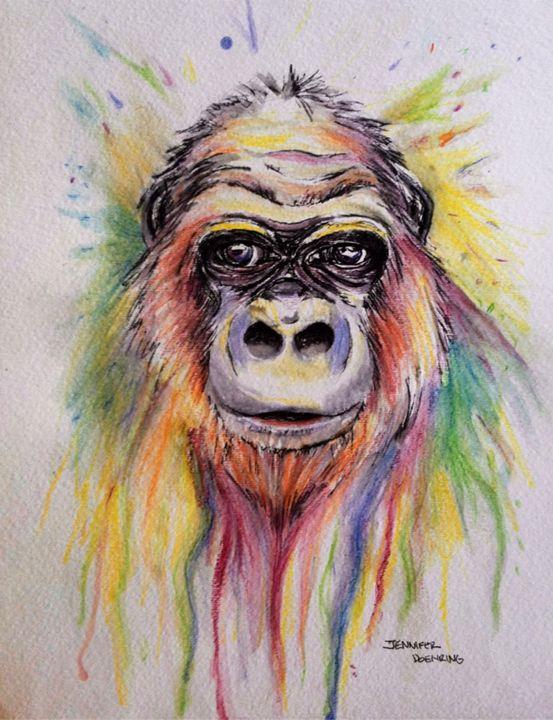 Monkey - Jennifer Doehring Art