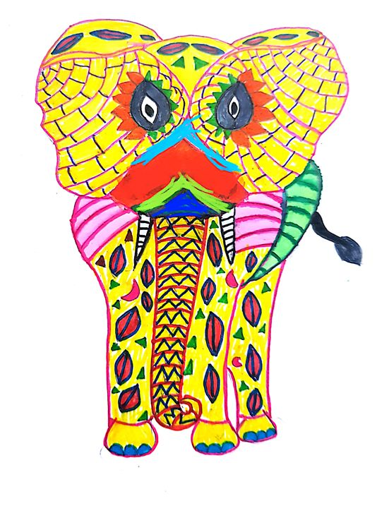 Colourful elephant - Pupu