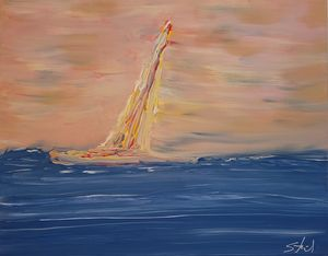 Regatta Sailboat Abstract - Steven Calapai Published Artist