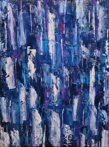 Blue Abstract No. 23 - Steven Calapai Published Artist