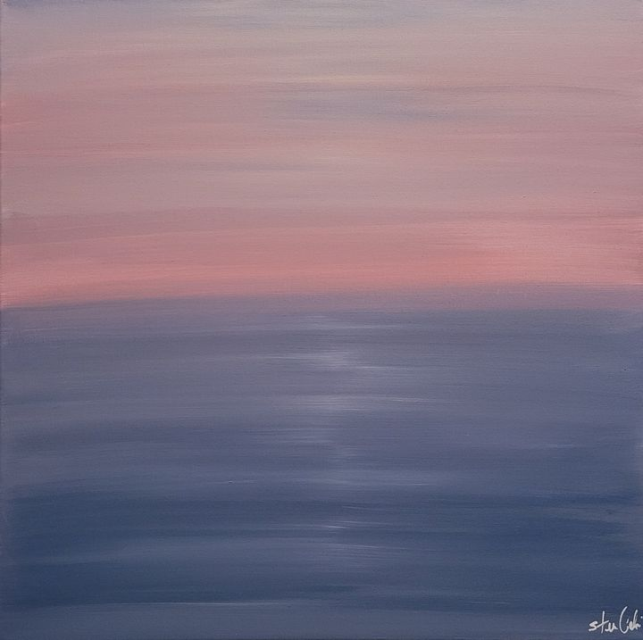 Pink Sunset Beach - Steven Calapai Published Artist