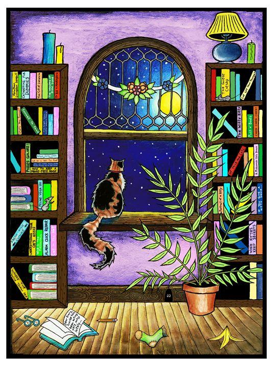 Kitty at the Windowsill - Annie Waldusky