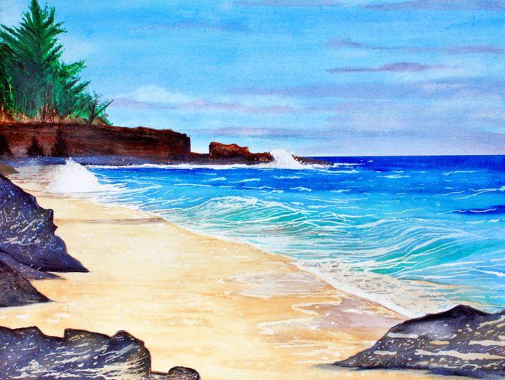 """""""KAUAII SECRET BEACH, HAWAII"""" - Dennis Knecht"""
