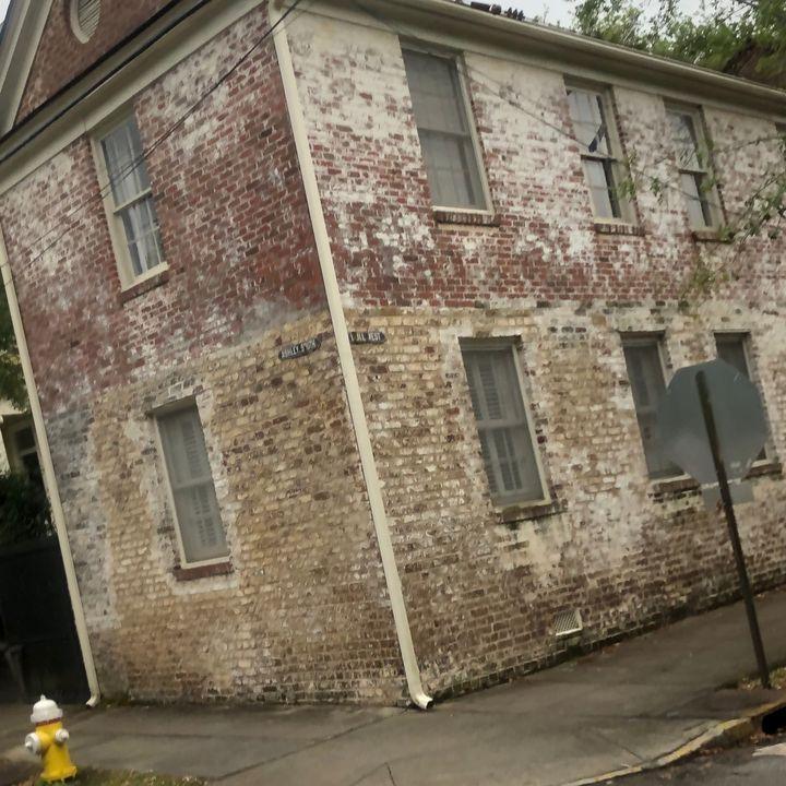 Beige Brick Building 1 - Sheryl Sabol - Through My Eyes