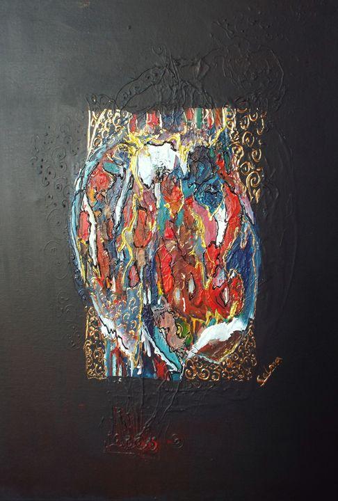 Abstract of Sudanese folk 1 - Selma art