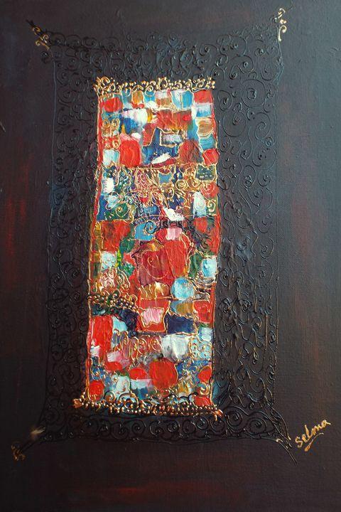 Abstract of Sudanese folk - Selma art