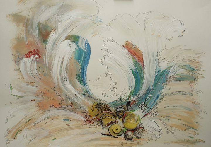 Splash (acrylic painting on paper) - Selma art