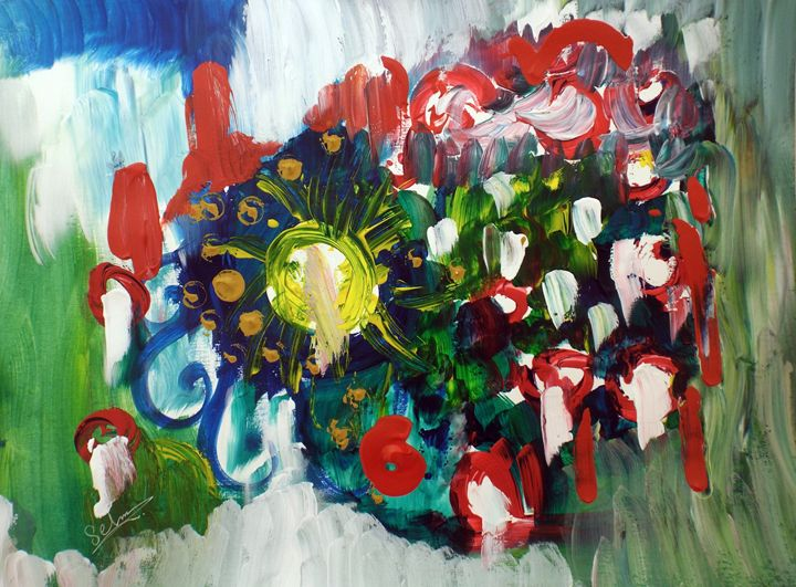 A sunny day in the garden - Selma art