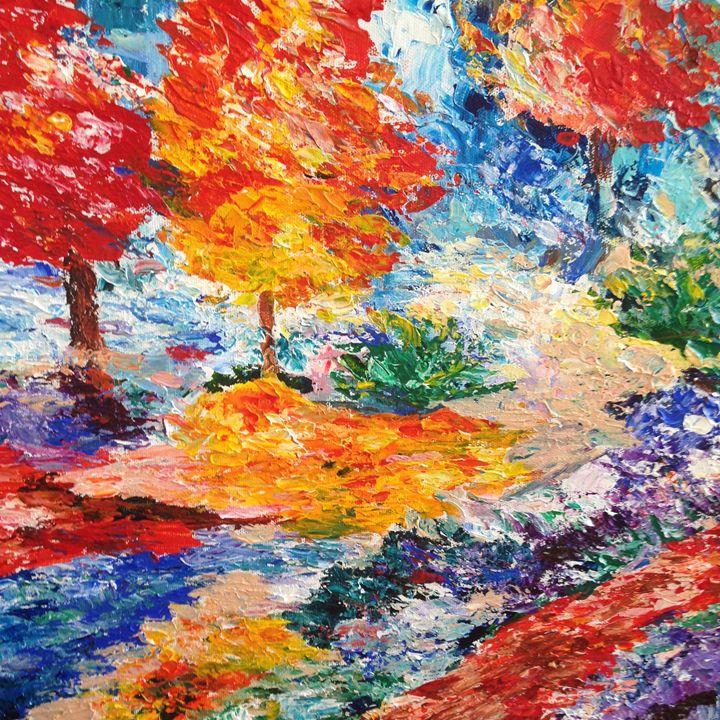 The Joyful garden - Carols Colorful Art