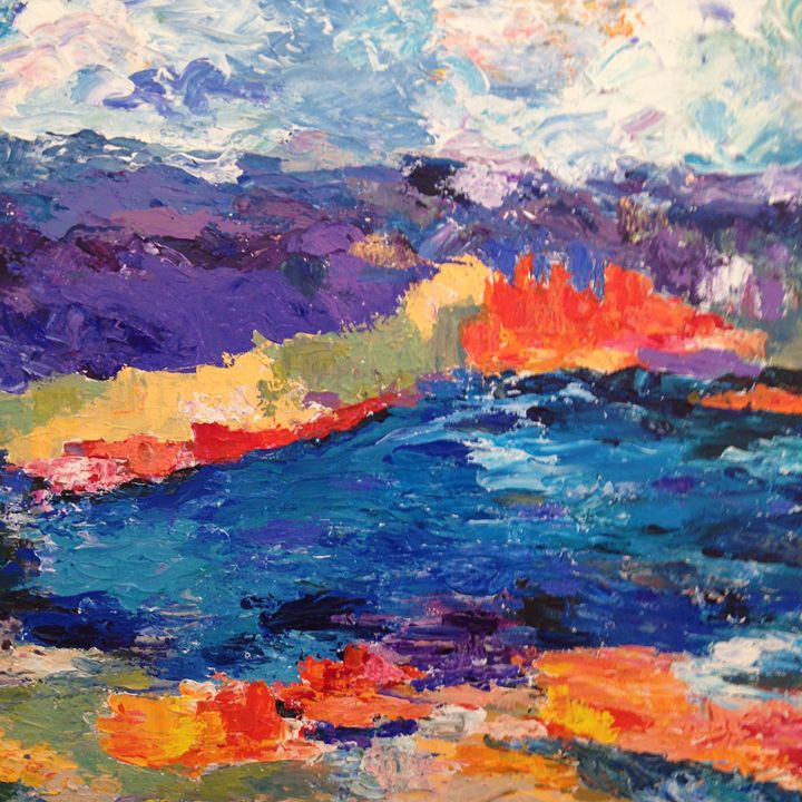 Water, Water Everywhere - Carols Colorful Art