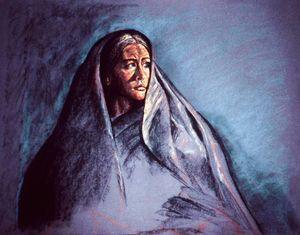 Remember Lot's wife!, Pastel drawing