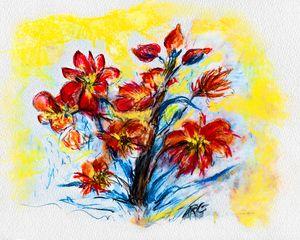 Alaska Wild Fireweed, Pastel