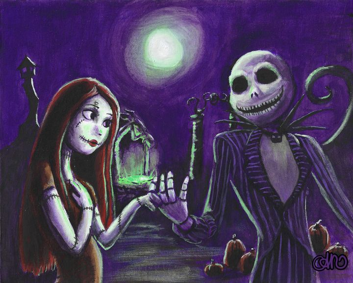 Jack and Sally in love! - AniStaciaArt