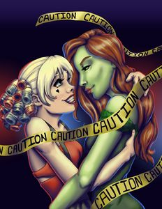 Batman's Harley Quinn and Poison Ivy
