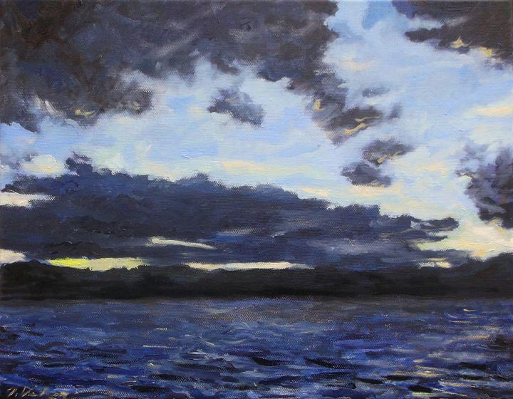 Sunset, Lake Webb - Van Brunt Art