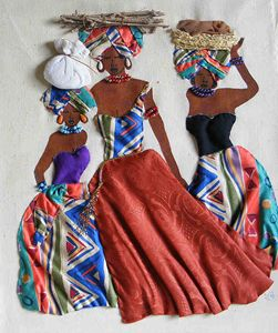Three Herero Women - 3D