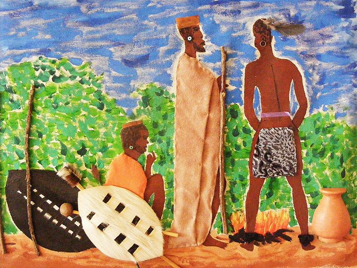 3D Two African Tribes Meeting. - Terry Harnwell