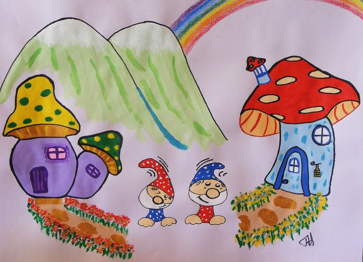 Toadstool Village - Terry Harnwell
