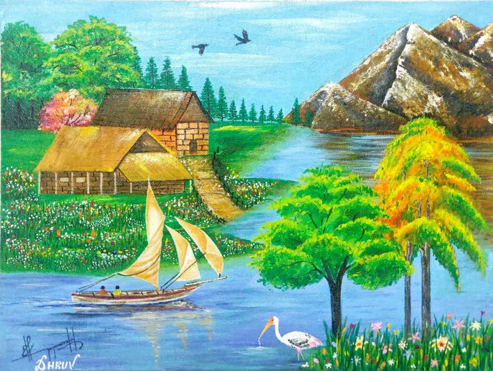 Landscape Acrylics Painting - DHRUV