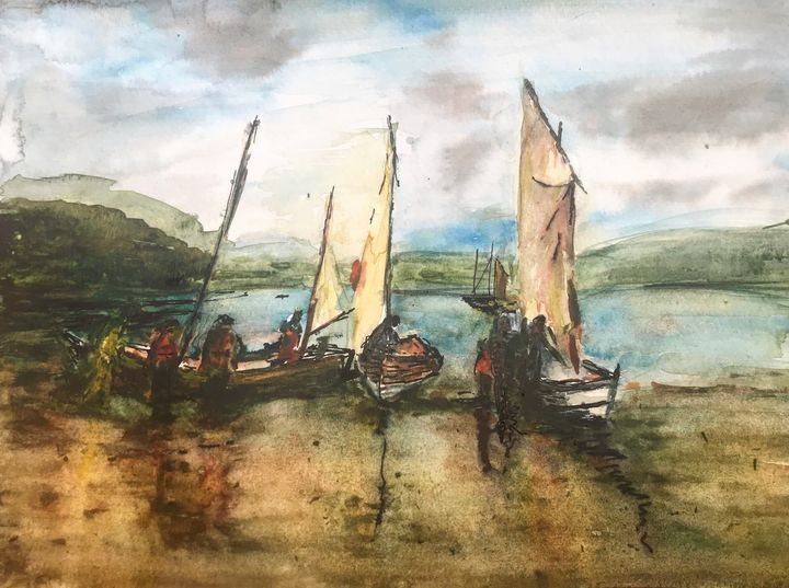 Sailboats on Shuna - Scott Macdonald