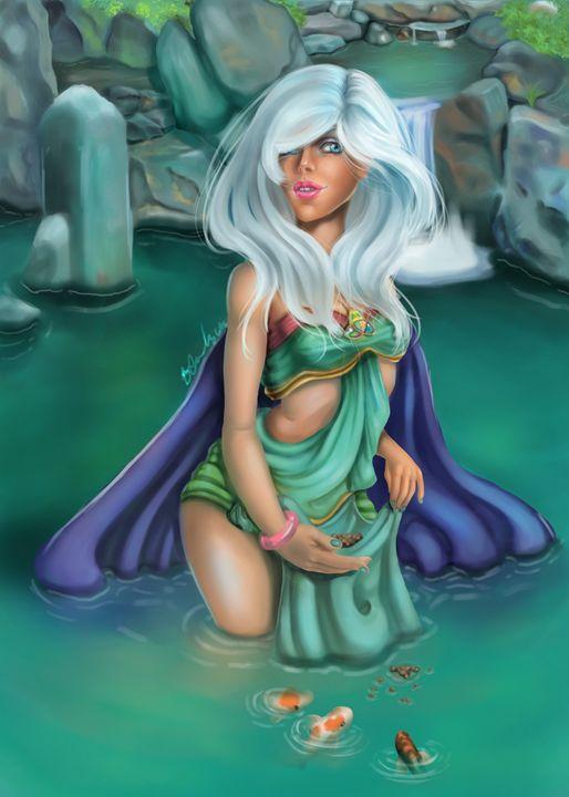 Evie Koi Pond - Pasithee Art