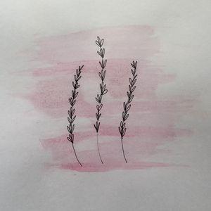 Mixed Media Lavender