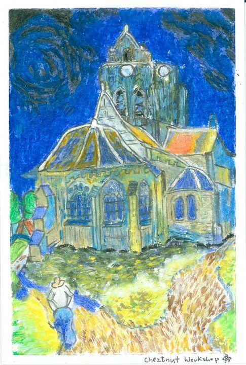 Imitate of the Auvers Church - Cheztnut Workshop - Rebecca Tsui