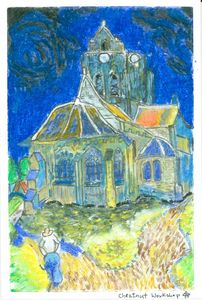 Imitate of the Auvers Church