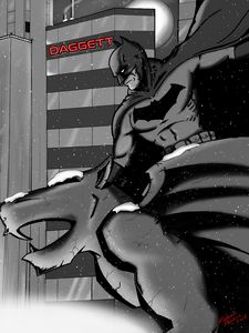 Dark Knight Black & White