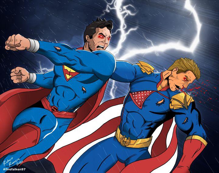 Superman vs Homelander - Firefalken97
