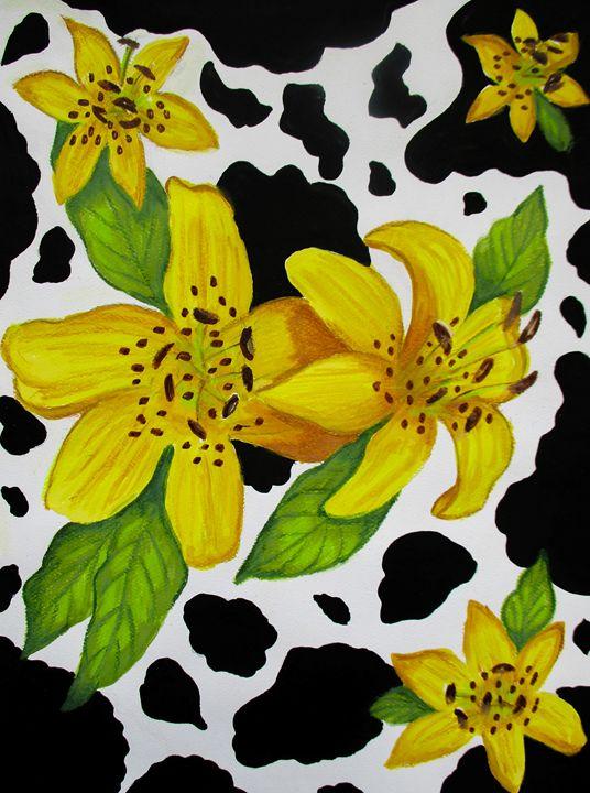 Floral Cow Print - Dawn Siegler