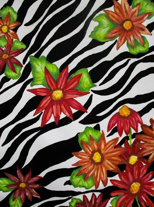 Floral Zebra Print - Dawn Siegler