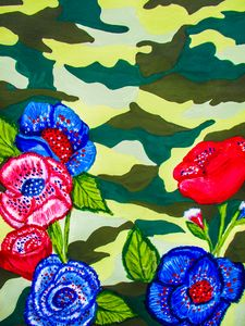 Camoplouge patriotic floral