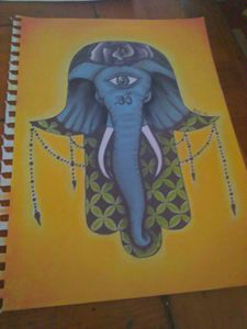 Elephant Hamsa