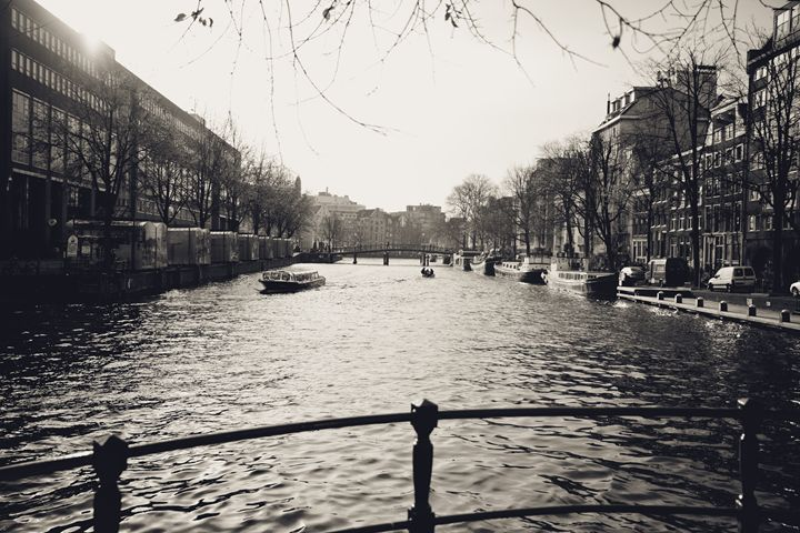 Dutch Canal Black & White - Dutch Picture/Poster Photography Art
