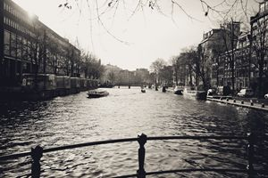 Dutch Canal Black & White