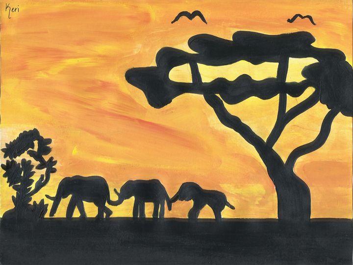 Africa Sunset - Keri's Art