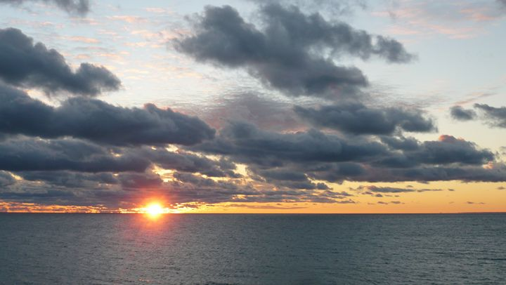 Sunset Over Lake Michigan #3 - Martin Gak