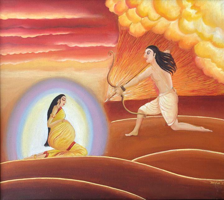 The Unfaltering Faith - Nisha Agarwal - Paintings & Prints ...