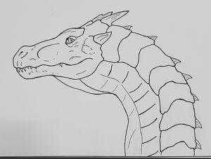 Dino dragon lineart